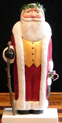carved santa, hand carved santa claus, creative carved art