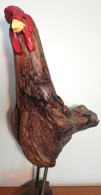 santa carvings, carved santas, creative carved art