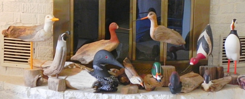hand carved birds and ducks